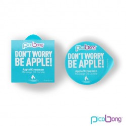DON'T WORRY BE APPLE MASSAGE OIL CANDLE.
