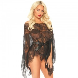 LEG AVENUE 3 PIECES SET LONG SLEEVE ROBE ONE SIZE