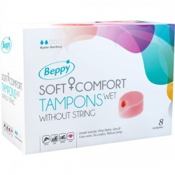 BEPPY SOFT COMFORT TAMPONS WET 8 UNITS