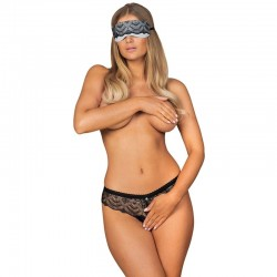 OBSESSIVE - FIRELLA SET MASK AND CROTHLESS PANTIES